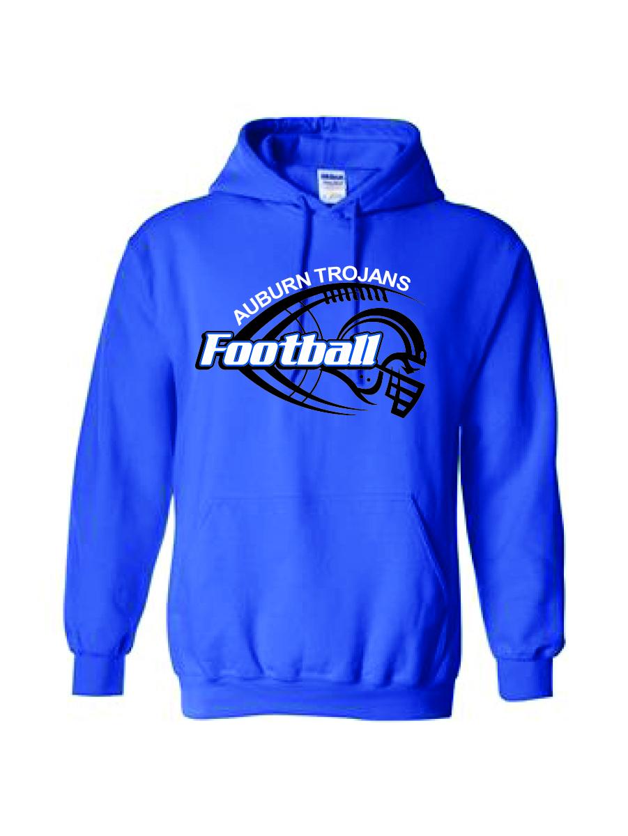 Auburn Football Helmet Hoodie (Blue)