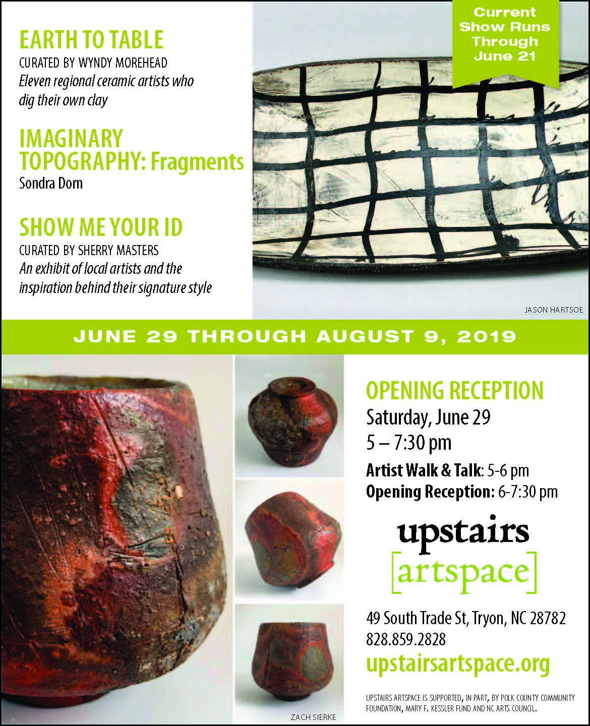 "Artist Walk & Talk, Opening Reception: ""Earth To Table,"" ""Imaginary Topography: Fragments,"" & ""Show Me Your ID"""