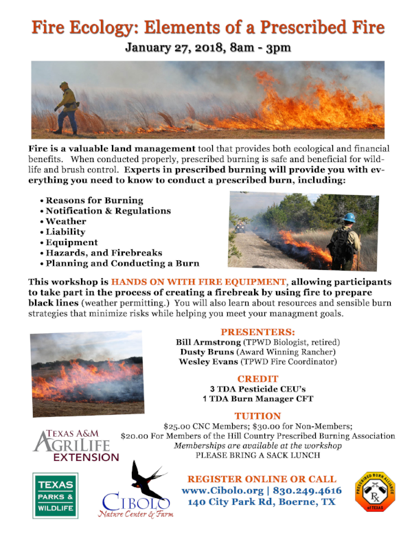 CNC: Fire Ecology Workshop