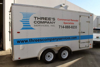 Orange County Fleet vehicle vinyl lettering