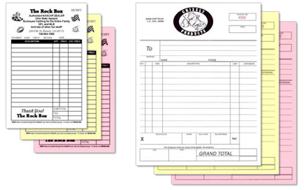 "8.5"" x 11"" Carbonless NCR Forms"