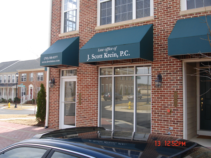J. Scott Krein Storefront Sign