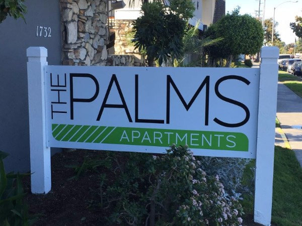 Post and panel signs for apartment complexes in Orange County CA