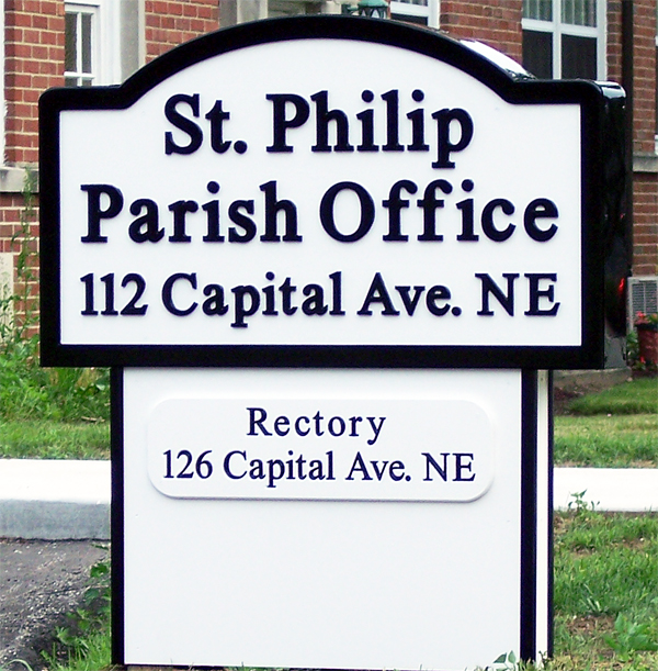 CNC CARVED, CAPPED, & SKIRTED SIGN