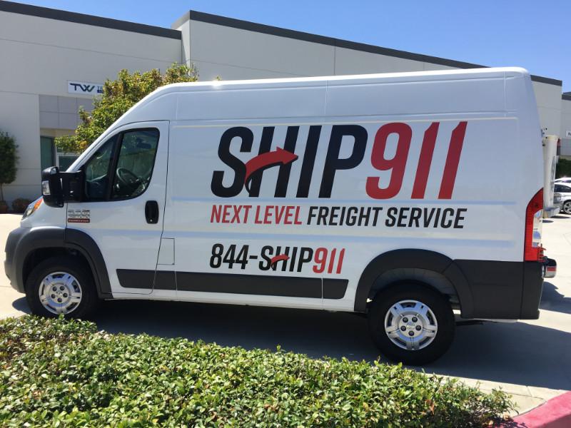 Delivery Van Lettering Aliso Viejo CA