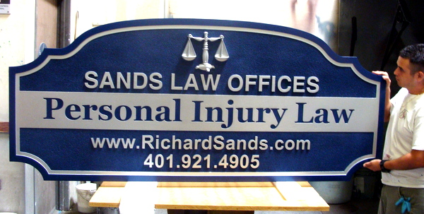 A10058 - Law Office Sign, for Personal  lnjury Practice
