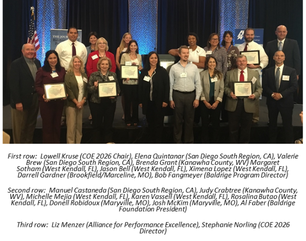 Five Communities Recognized for their Commitment to Community Performance Excellence