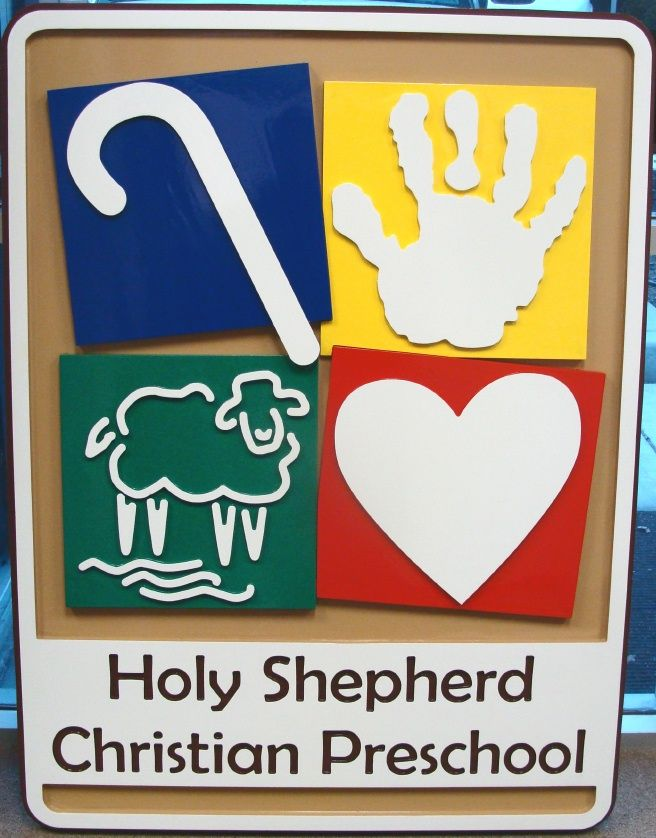 FA15930 - Christian Pre-school Outdoor Wall sign