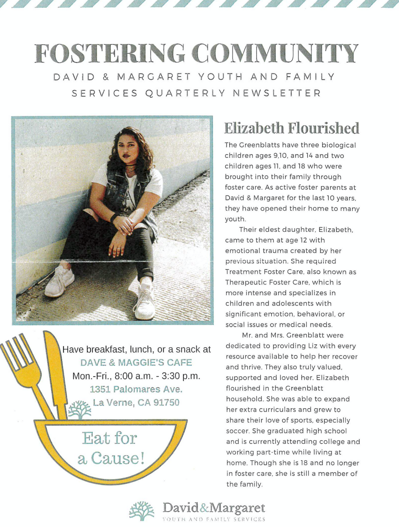 David & Margaret Quarterly Newsletter Vol. 1 Issue 1