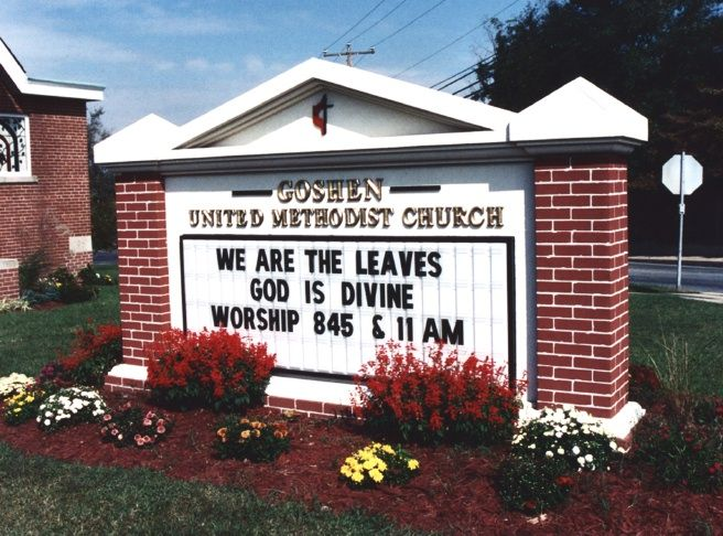 D13006 - Traditional Entrance Monument Sign for Methodist Church