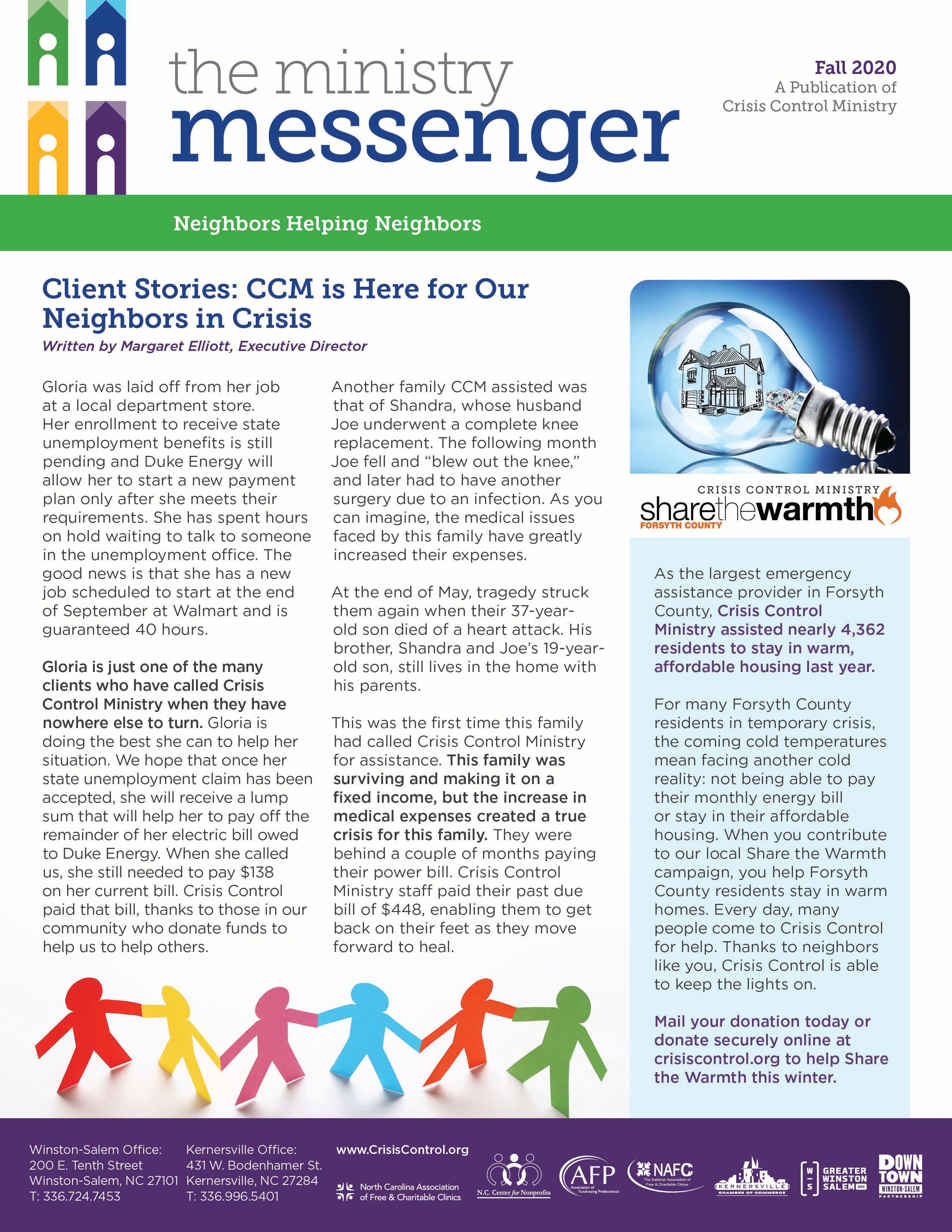 Fall 2020 Ministry Messenger