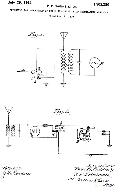 1924: William Friedman receives first of 30 patents....