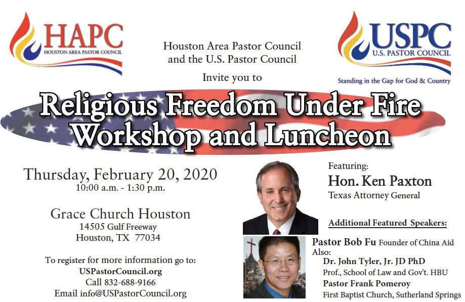 Religious Freedom Under Fire Workshop and Luncheon