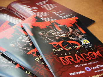 program printing, printed programs, event programs, toronto program printing, wedding programs