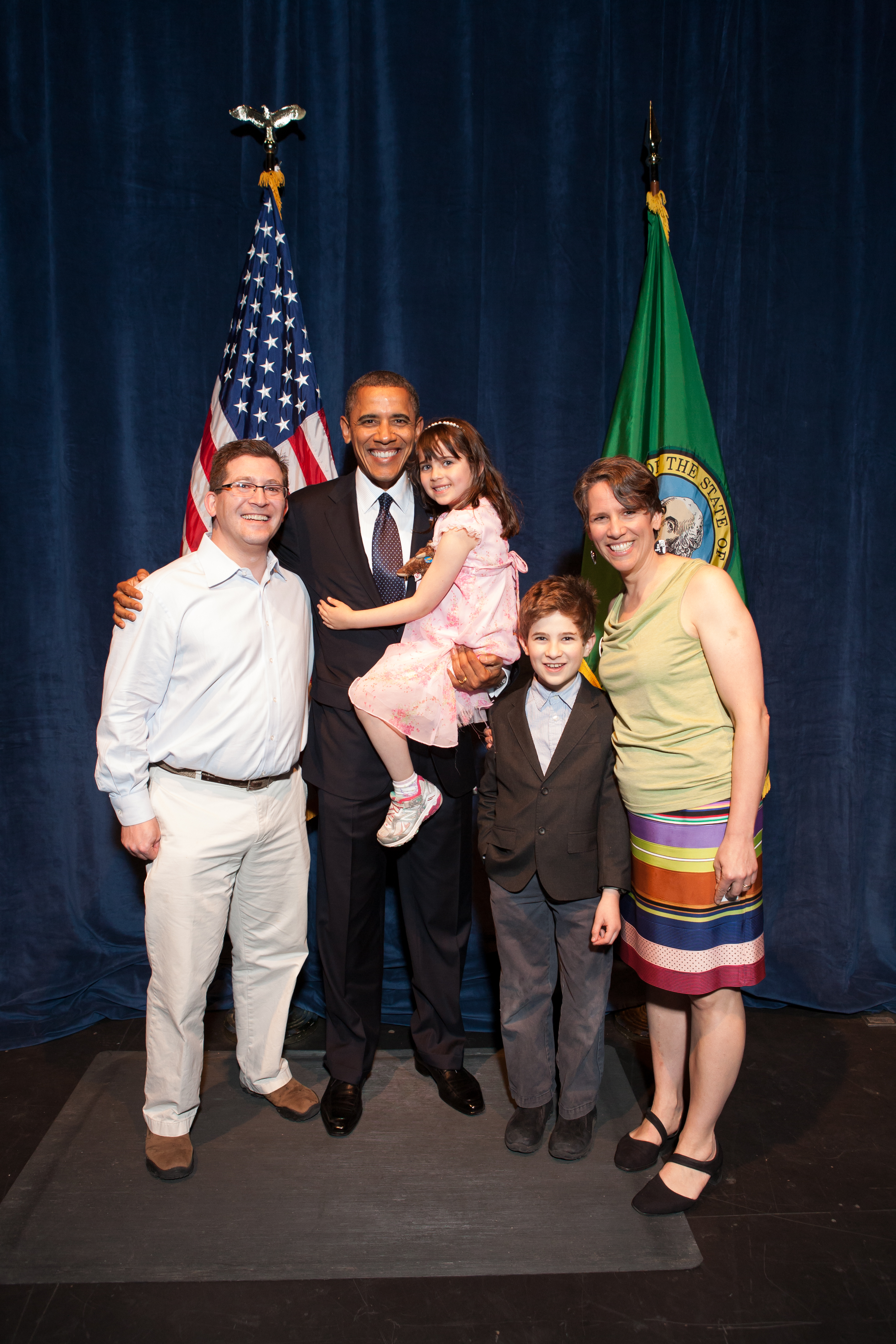 The LeVine family with President Barack Obama.
