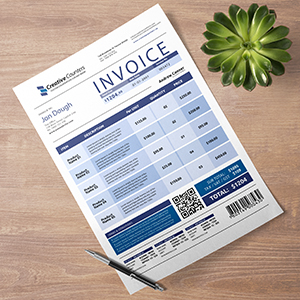 Request an estimate for printing and mailing financial statements / invoices.