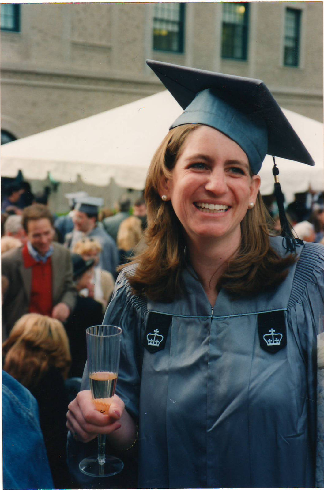 Tana at her graduation from Columbia University.