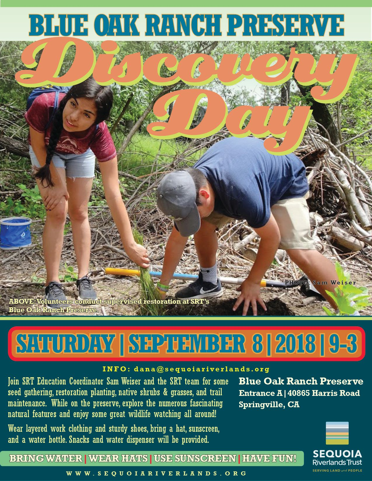 Blue Oak Ranch Discovery Day September 8