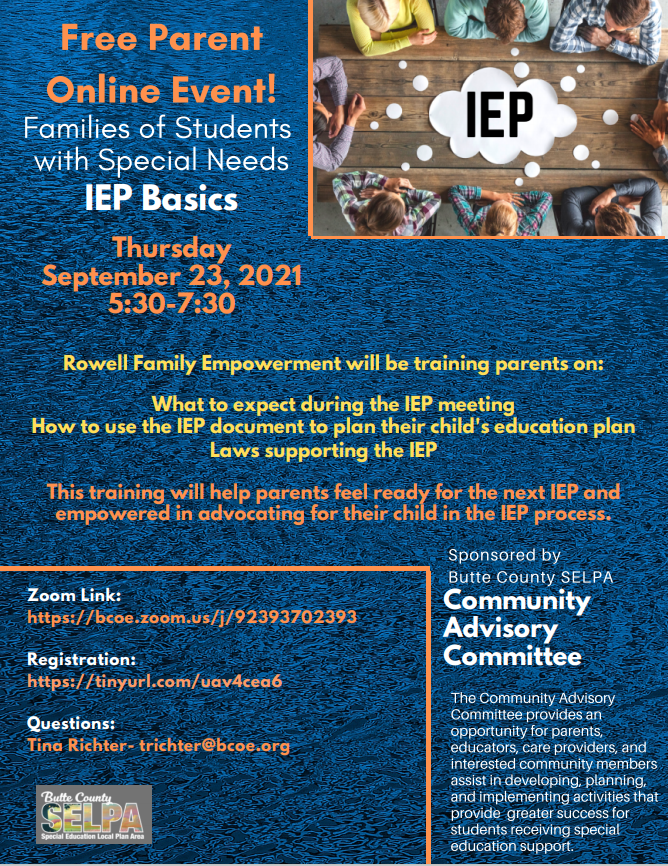 IEP Basics for Families of Students with Special Needs