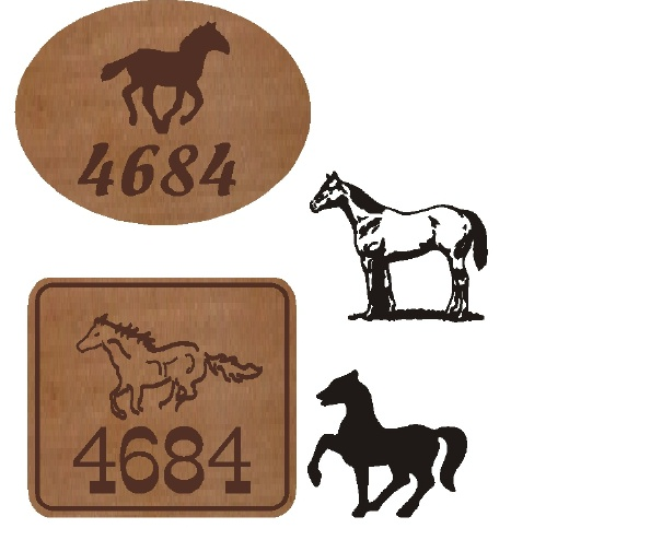P25344- Cedar Address Signs