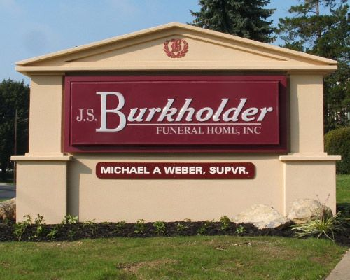 GC16102 - Chapel-Shaped EPS Monument Sign for a Funeral Home