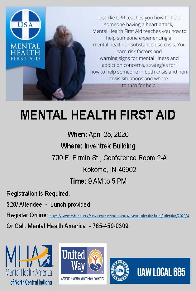 Mental Health First Aid Course - Howard County