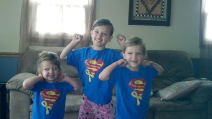 Stay strong Buddy!! From the adorable Larsen girls