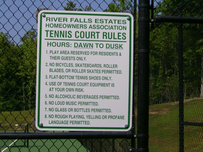 River Falls Community Sign