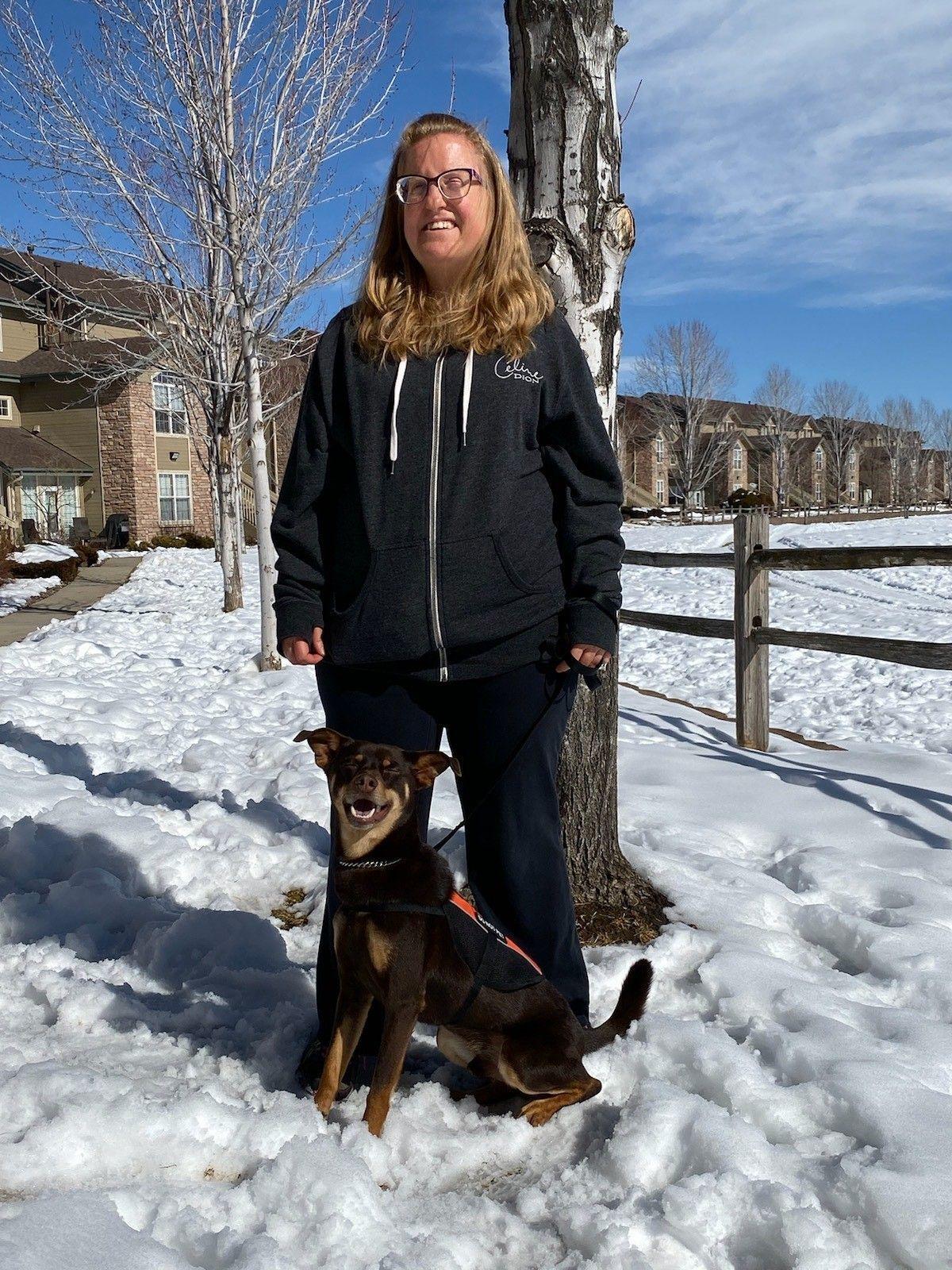 Hearing Dog team Amanda & Whiskey