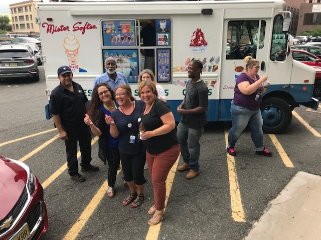 CBH Care Staff Enjoy Mr. Softee Ice Cream in August