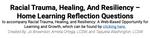 Racial Trauma, Healing, Resiliency Home Learning Worksheet