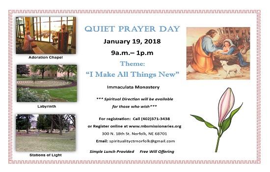 Quiet Prayer Day