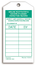Airline Respirator & Escape Cylinder Inspection Record