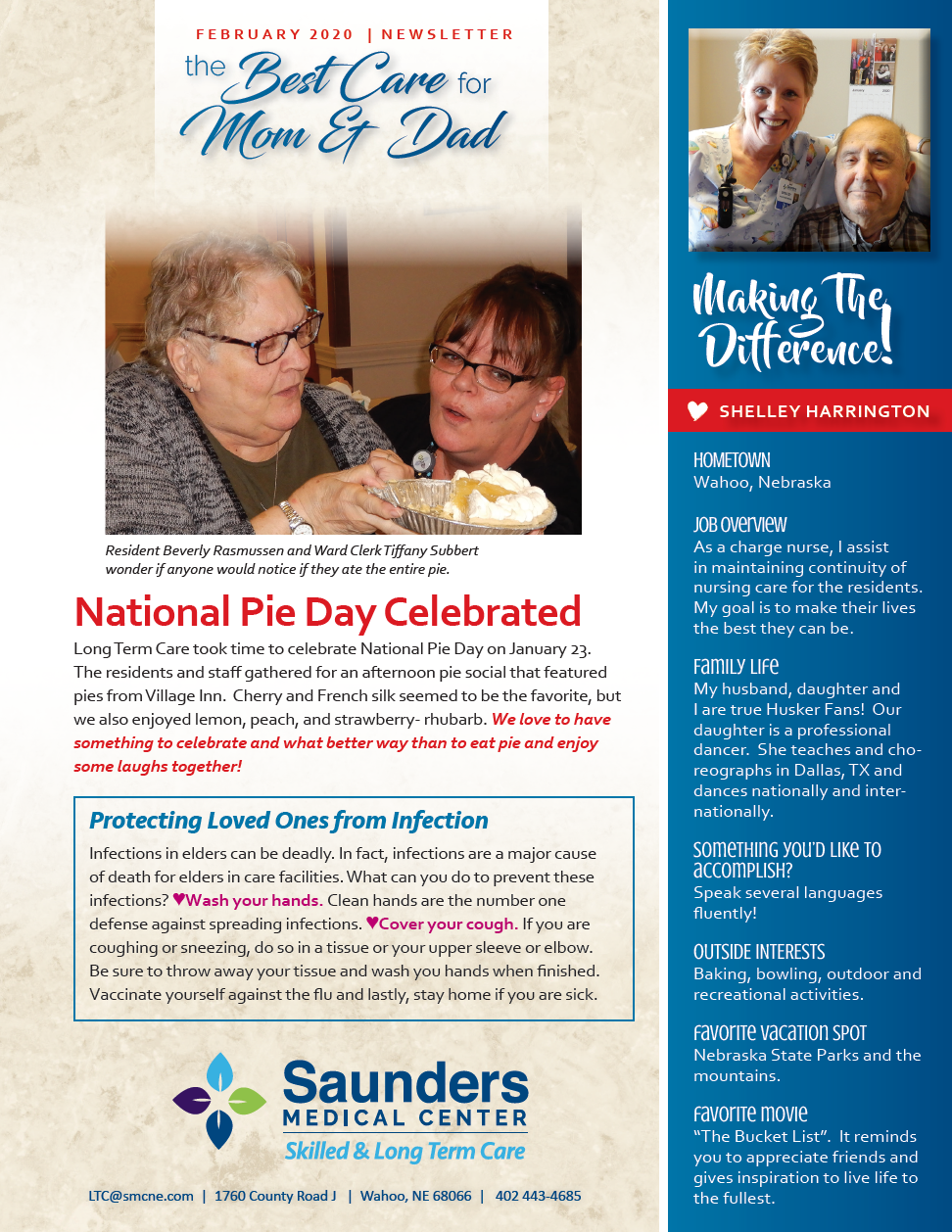 February 2020 News from the SMC's Nursing Home