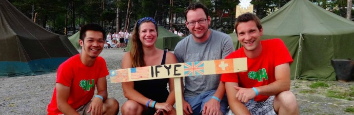 IFYE's at Swedish 4-H Camp