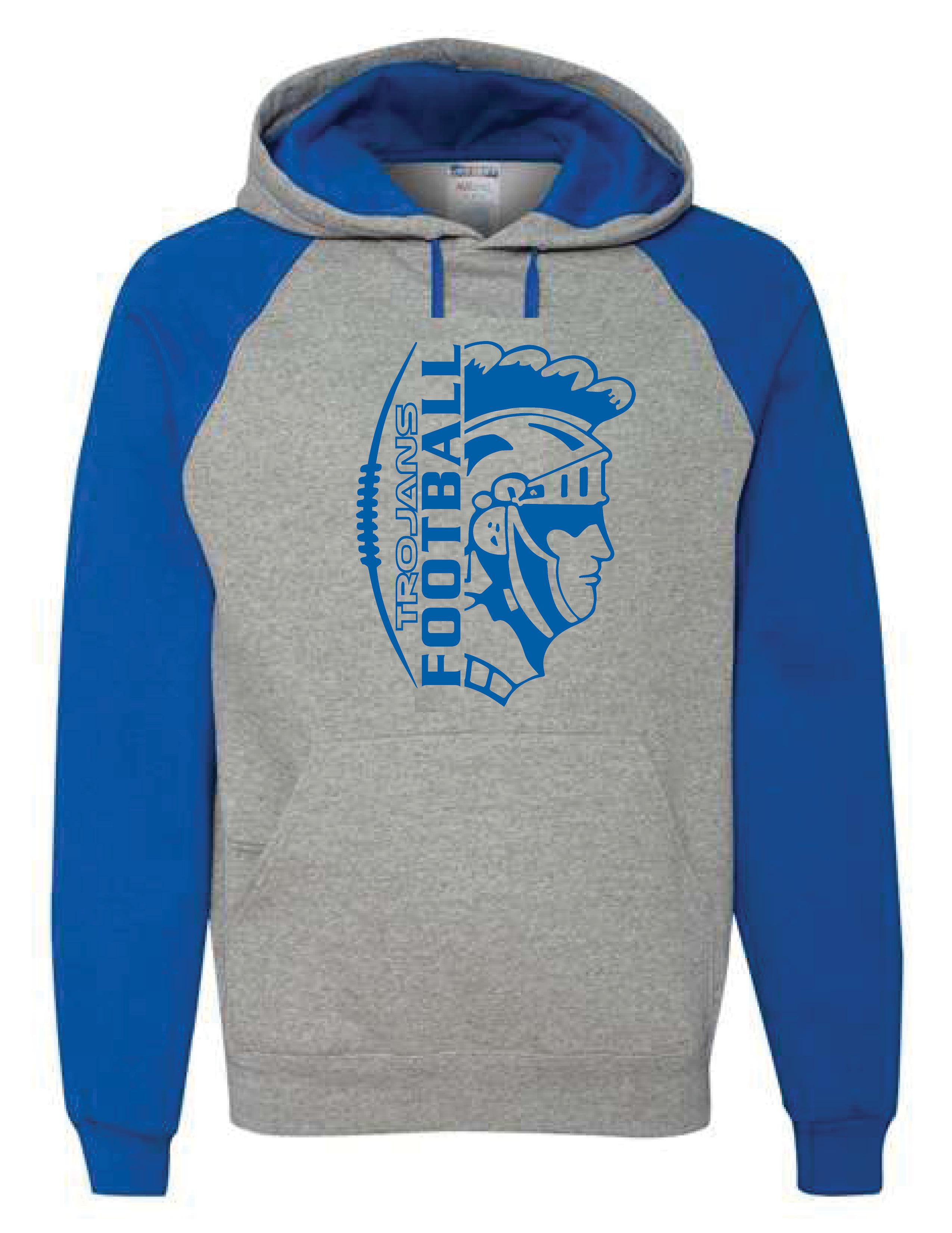 Colorblocked Hooded Sweatshirt  (TROJAN)