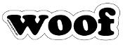 Woof - letter magnet