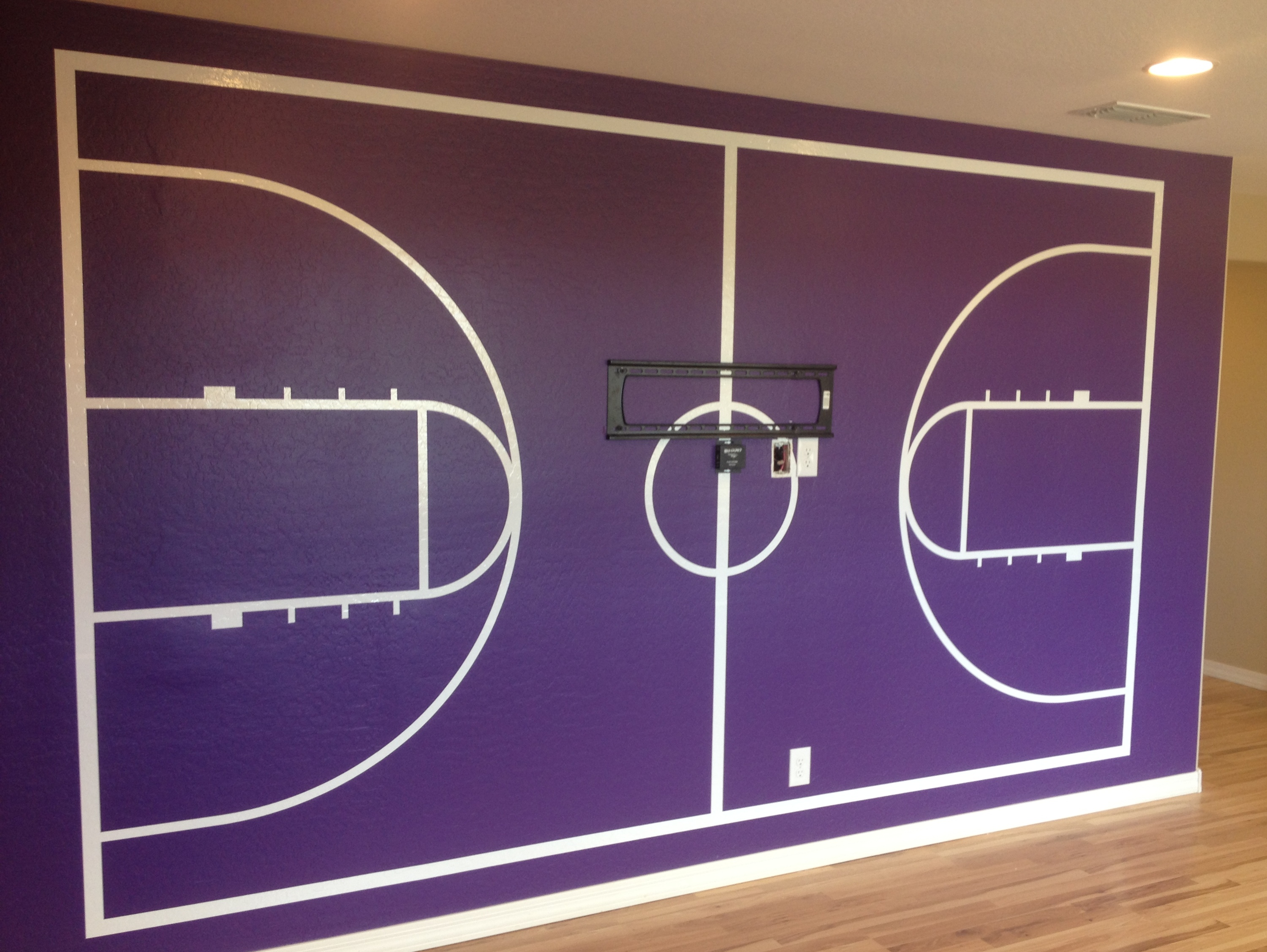 Wall graphics and wall murals phoenix for Basketball court wall mural