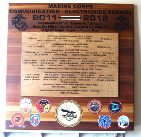 M3930  - Marine Corps Unit Organizational Wooden Plaque (Gallery 31)