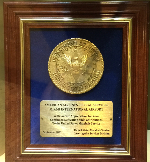 U30500 - Award to American Airlines Award from US Marshal Service