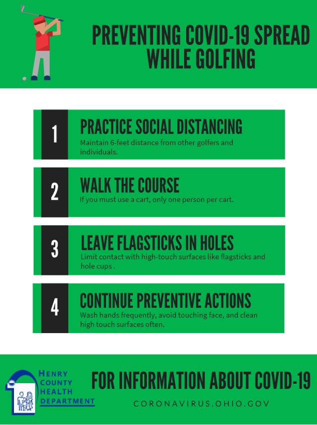 Golfing (when open)