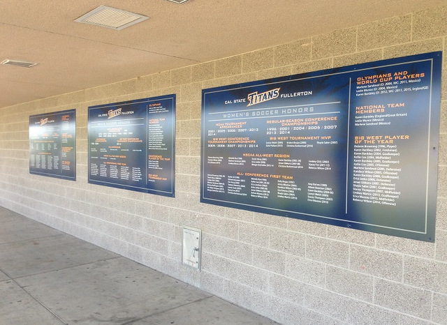 School stadium signs Orange County