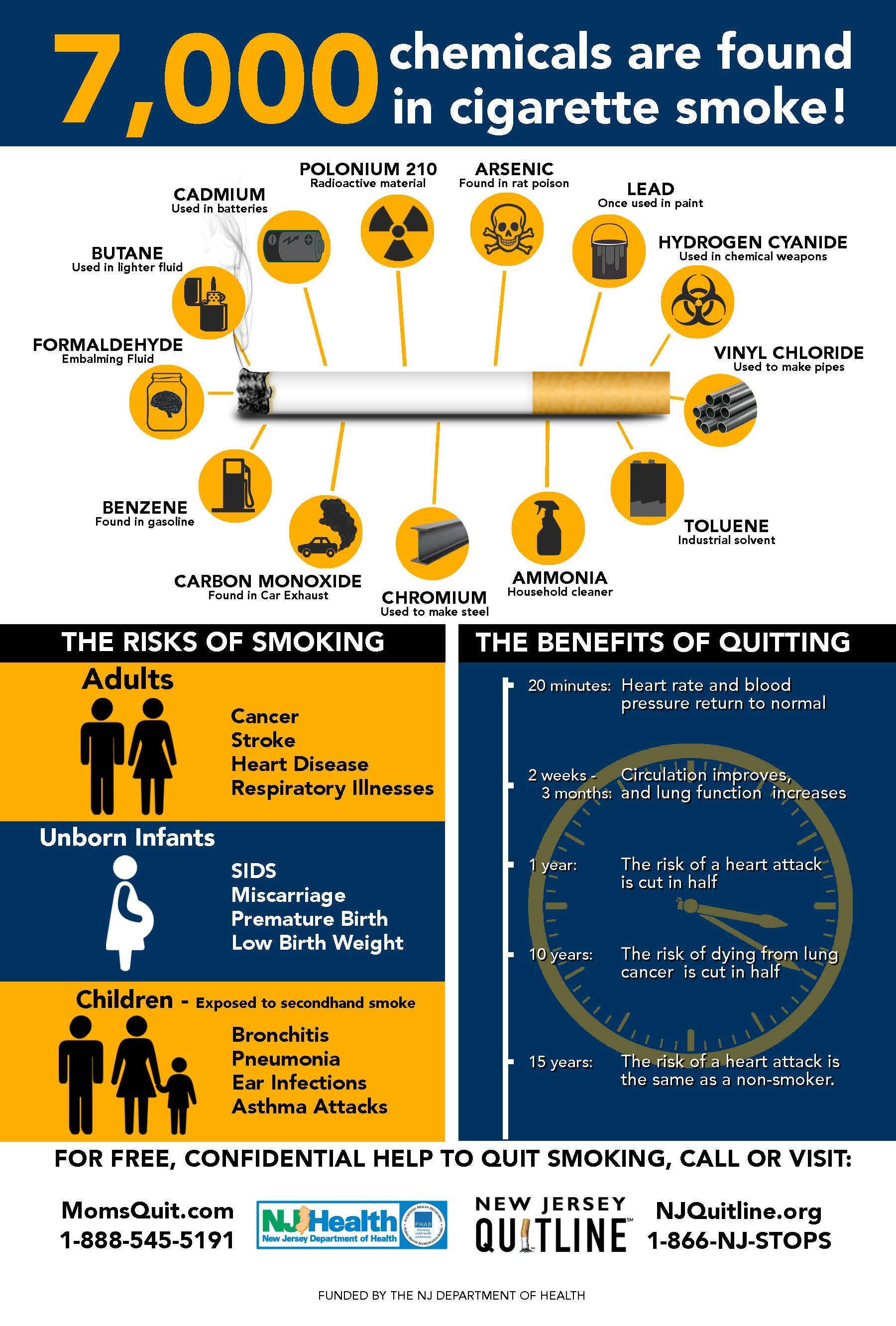 Second Hand Smoke Infographic Poster