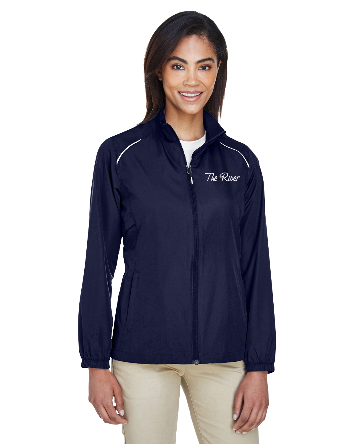 78183Prime Plus Core 365 Ladies' Motivate Unlined Lightweight Jacket Classic Navy