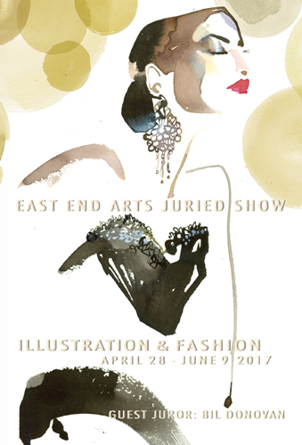 ILLUSTRATION & FASHION: A Juried East End Arts Gallery Show, Opening Reception: Friday, April 28, 5 – 7 PM (posted April 13, 2017)
