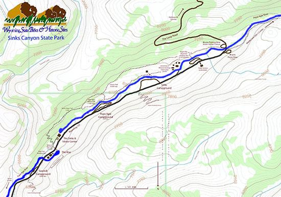Sinks Canyon Hiking Trails