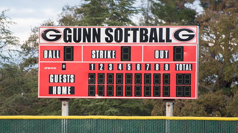 Gunn Softball Complex Sign