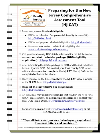 NJ CAT Checklist