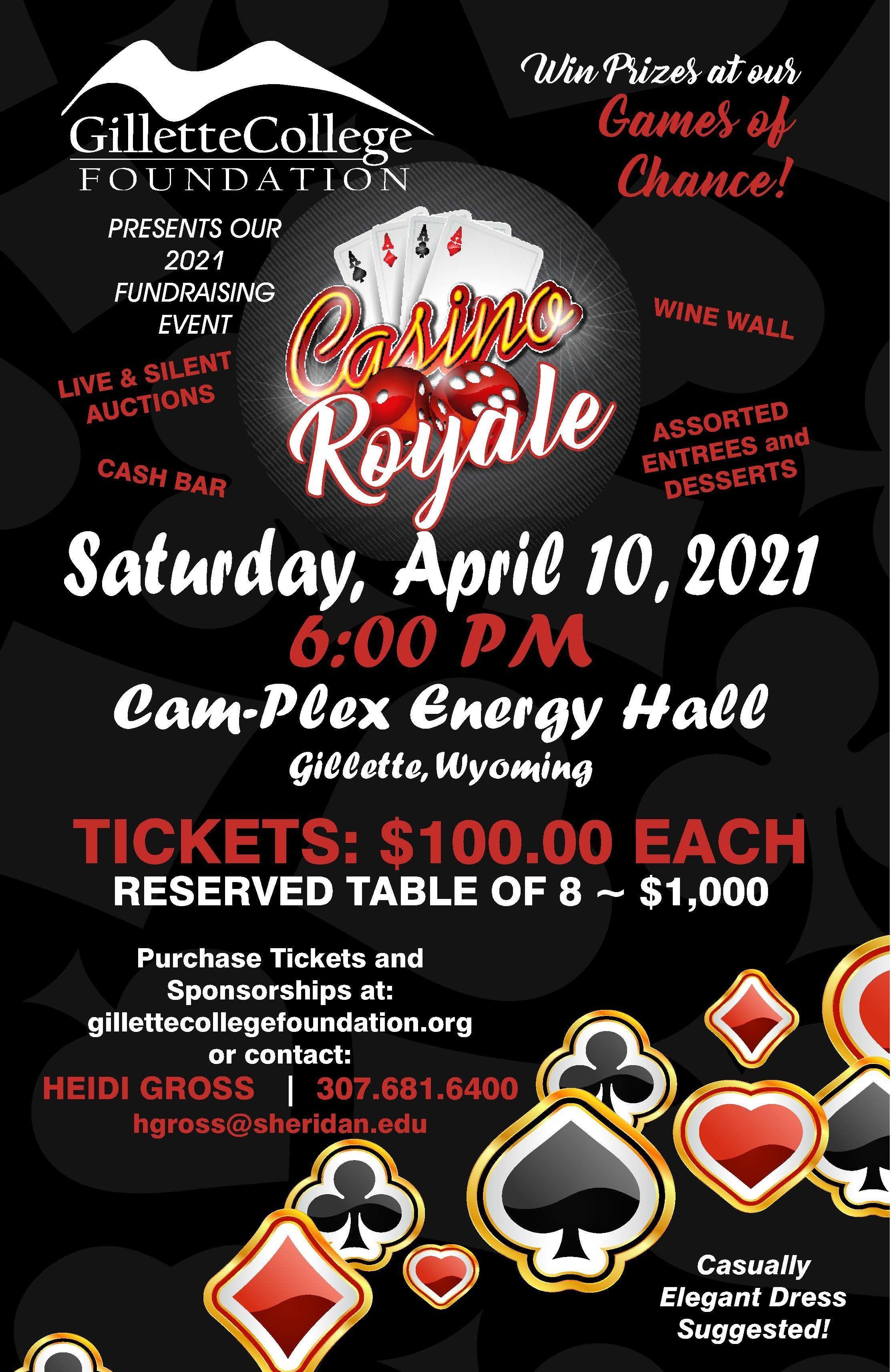 Gillette College Foundation Annual Fundraiser - Casino Royale