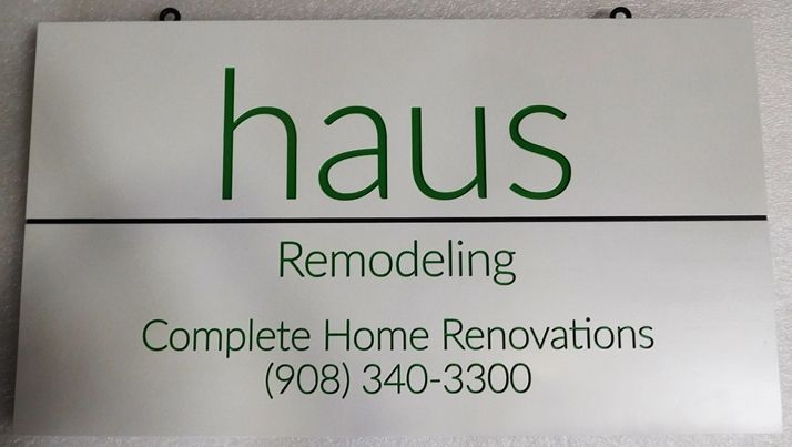 """S28107- Carved Engraved  HDU Commercial Sign for  """"Haus Remodeling"""", 2.5-D Artist-Painted"""